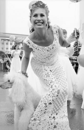 Свадебные платья связанные